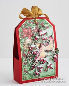 Designs by Marisa: Heartfelt Creations - Holly Berry Gift Box
