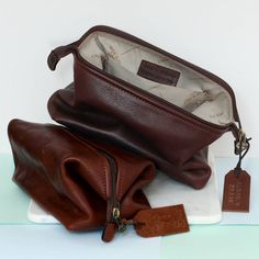 b8b609bb6a Personalised Genuine Leather Washbag. Wash BagsGifts ...