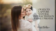 Learn how to capture natural interaction in family photos. Read here for seven super easy ways to take great family photos that are natural AND...