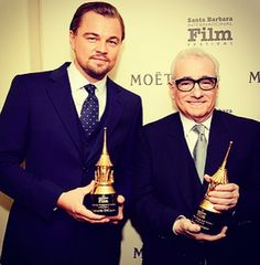 Leonardo DiCaprio and Martin Scorceses at Wolf of Wall Street