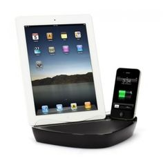 Griffin PowerDock Dual Ladestation für iPhone, iPod & iPad - www. Iphone 4s, Ipod, Samsung, Docking Station, Slipcovers, Hang In There, Ipods, Iphone 4