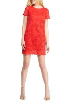 Maggy London  Petal Lace Shift Dress