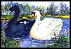 Swan Bird Doormat