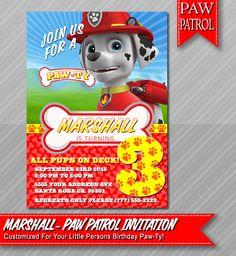 Marshall Paw Patrol Invitation