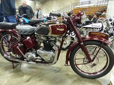OldMotoDude: 1946 Triumph 500 Speed Twin on display at the 2016...