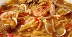 Fabulosa receta para Fideos caldos con almejas, gambas y calamar. Esta receta esta redactada para el robot multicook de Tefal pero igual se puede hacer en una olla tradicional, queda en las dos igual de bueno.