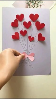 Diy Crafts Hacks, Diy Crafts For Gifts, Handmade Crafts, Cool Paper Crafts, Paper Crafts Origami, Easy Valentine Crafts, Valentine Decorations, Valentine Gifts, Diy For Kids