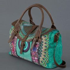 Free shipping 2012 New desigual bag womens Mixed colors embroidery Canvas handbag Messenger lady's shoulder bag $52.00