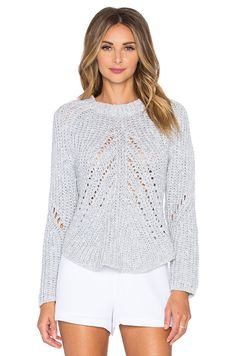 J.O.A. Asymmetrical Hem Sweater in Periwinkle