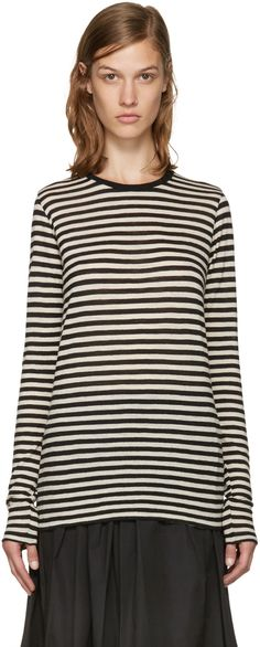 Marc Jacobs - Black & White Wool T-Shirt