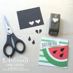 nutmeg creations: Watermelon Wonder Treat - Stampin' UP Artisan Blog Hop