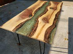Walnut epoxy coffee table