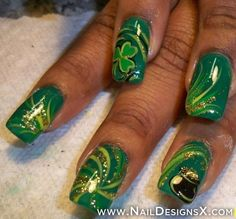 assorted luck of the irish nail design - Nail Designs and Nail Art