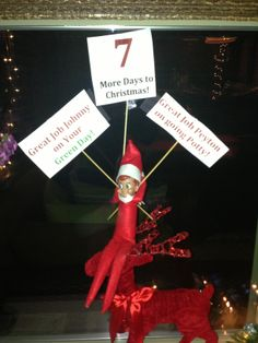 Elf on the Shelf countdown to Christmas! http://www.facebook.com/coachdwyer
