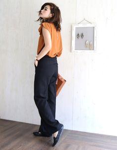 新作♡人気のトップスにテラコッタカラーが登場♪|*miima's fashionblog* Hipster Fashion, Office Fashion, Work Fashion, I Love Fashion, Daily Fashion, Everyday Fashion, Trendy Fashion, Womens Fashion, Chic Outfits