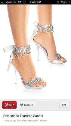 I wasn't sure where to pin this one cause the shoes are to die for! Diamonds!