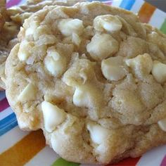 "White Chocolate Macadamia Nut Cookies IV I ""This is the BEST cookie recipe I've found for a textured cookie with nuts and chocolate. I used walnuts and pecans in it along with chipped white chocolate."""
