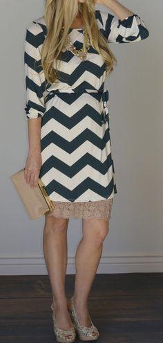 Avery Chevron Print Dress - I love all the options!