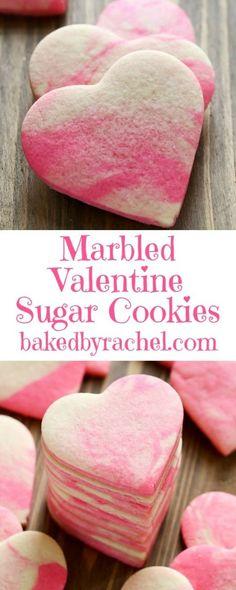 Marbled Valentine sugar cookie recipe from /bakedbyrachel/