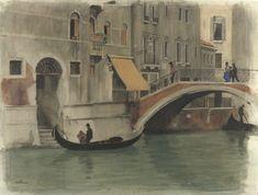 Willem Witsen, 1870 - Bridge over a canal in Venice - art print, fine art reproduction, wall art Fine Art Prints, Canvas Prints, Painter Artist, Artwork Display, Canvas Paper, Modern Artists, Museum Collection, Art Reproductions, Venice