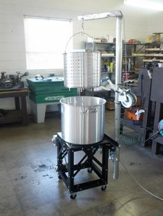 BIAB brew stand with hoist and pump – Page 10 – Home Brew Forums – Brewing Equipment Nano Brewery, Home Brewery, Beer Brewing Kits, Brewing Recipes, Brew In A Bag, Brew Stand, Wine Making Equipment, Wine Making Kits, Home Brewing Equipment