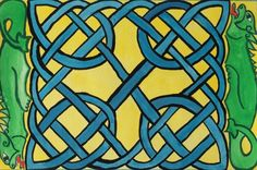 beautiful celtic knot painting from a handmade art calendar by Heidi Piercy