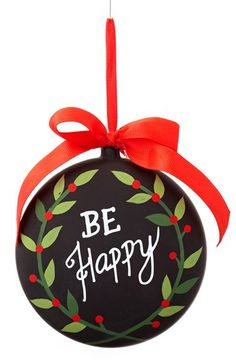 Sage & Co. 'Be Happy' Chalkboard Ornament available at #Nordstrom
