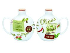 Dzbanek na oliwę lub ocet z porcelany || #Jug on #oil or #vinegar || #kitchenaccessories #herbs #spices