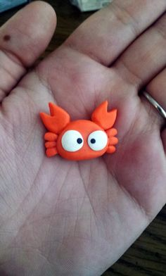 totoro mei CRAB polymer clay charm by TreeTopFox on Etsy, $5.00
