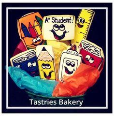 Back to School Designer Cookie Bouquet. #ediblearrangement @Tastries Bakery