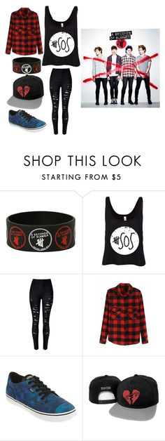 """IM GOING TO A 5SOS CONCERT TONIGHT!!"" by keep-calm-and-fandom-on ❤ liked on Polyvore featuring Vans"