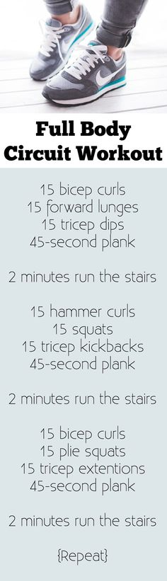 A perfect at home full body circuit, especially if your house has stairs! You can do this entire workout with a set of dumbbells or a resistance band. Includes modifications for diastasis recti.