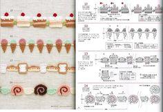 Borte Spitze häkeln - crochet border edging - barradinhos .Häkeln Borte / crochet cake