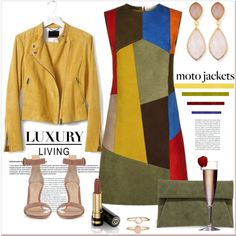 How To Wear moto jackets.... Outfit Idea 2017 - Fashion Trends Ready To Wear For Plus Size, Curvy Women Over 20, 30, 40, 50