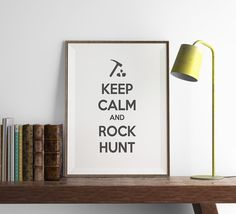 GEOLOGIST Keep Calm Print  Funny Geology Wall Art by FuzzyandBirch
