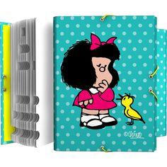 #Clasificador escolar con diseño de #Mafalda #vueltaalcole #backtoschool #materialescolar