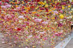Artist Rebecca Louise Law's Hanging Installation of 30,000 Flowers