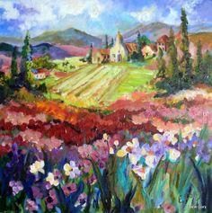 Tea Pot and Pears Still Life Painting 12 x 16 por ElainesHeartsong