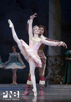 PNB principal dancers Carla Korbes and Batkhurel Bold in The Sleeping Beauty.