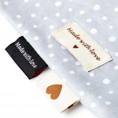 Made by merker til strikketøy og annet håndarbeid - Labels Custom Woven Labels, Iron On Labels, Name Labels, Textiles, My Wife Is, Perfect For Me, Text Color, Design Your Own, Damask