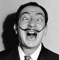 Spanish surrealist artist Salvador Dali - shows off his famous moustache. Dali was born on May (Photo by Weegee(Arthur Fellig)/International Center of Photography/Getty Images) Salvador Dali Photography, Surrealism Photography, Weegee Photography, Portrait Photography, Disney Marvel, L'art Salvador Dali, C G Jung, Art Disney, Disney Pixar