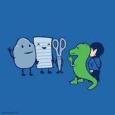 Piedra, papel, tijera, lagarto, Spock ... otra invención de Sheldon , jaja !!!