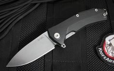 LionSteel KUR Flipper - Sleipner Steel - Bearing Pivot - Black G-10