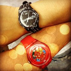 A Swatch couple #watches #nyc #red #awesome