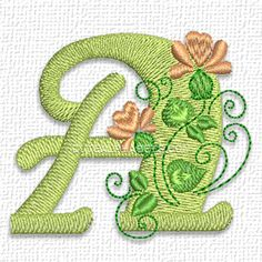 Pretty flower font - Cute Alphabets - Embroidery Fonts