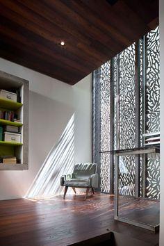 laser cut panels - modern bedroom by Moussafir Architectes Exterior Design, Interior And Exterior, Architecture Design, Laser Cut Screens, Art Deco, Decorative Panels, Deco Design, My Dream Home, Cladding