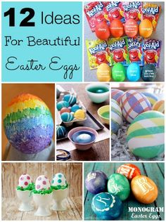 12 Ideas for Beautiful Easter Eggs