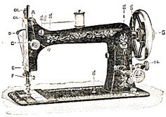 Early 1900s Minnesota D Treadle Sewing Machine and 5