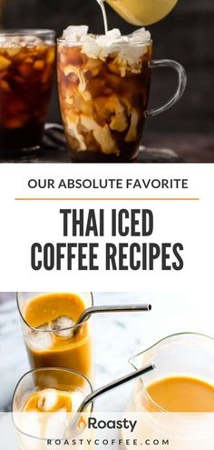 Our Absolute Favorite Thai Iced Coffee Recipes - Coffee Recipes - Kaffee Thai Iced Coffee, Vietnamese Iced Coffee, Turkish Coffee, Iced Tea, Iced Latte, Espresso Recipes, Coffee Drink Recipes, Tea Recipes, Matcha