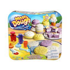 Moon dough fun food kit: square press, round press*, 3 tips, ice cream scoop, knife, pizza slicer, ice cream cone